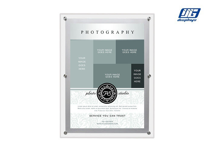A4 Ultra - Slim Acrylic Frame Crystal LED Light Box For Advertisement